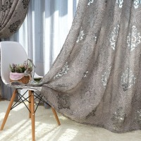 Luxury European Style Design Jacquard Curtain Blind For Window Living Room