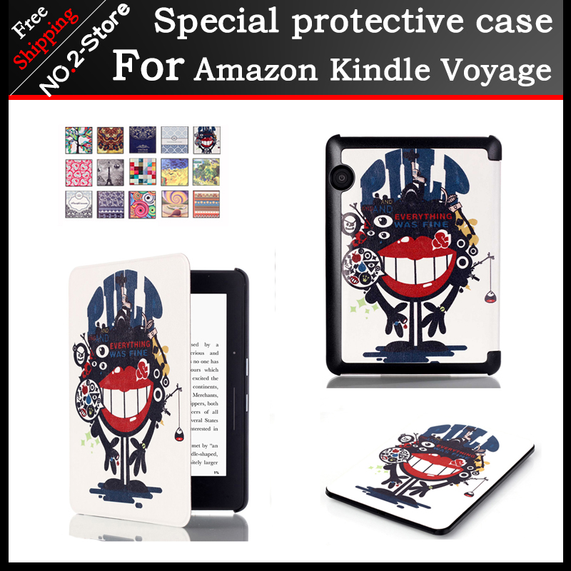 New Fashion Painted Cover Shell for Amazon Kindle Voyage 6inch Ereader Stand Case Ultra Thin Slim Case for Amazon Kindle Voyage 2017 new sleeve pouch case for amazon kindle 6 0 inch cover for kindle paperwhite bag for kindle voyage 6 free shipping stylus