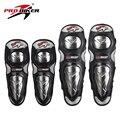 Pro-biker motociclismo motocross off-road racing protector de la rodilla rodilleras equipo de protección con carcasa de acero inoxidable
