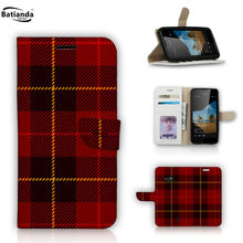 "Classical Tartan Pattern Case For Microsoft Lumia 550 4.7"" Case Flip Leather Magnetic Wallet Phone Bag Case with Stand"