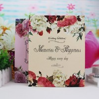 Vintage Flower Pattern Photo Album Wedding Picture Album Graduation Commemorative Album Scrapbook Send Friend's Gift