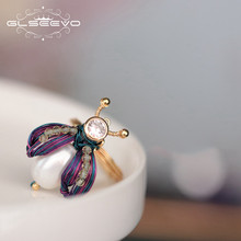 GLSEEVO Original Design Fresh Water Pearl Bee แหวนแม่ลูกสาววัน(China)
