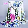 Size 160*50 cm women's scarf 2017 brand fashion peony pattern Lady digital print silk scarfs High quality female shawls gift