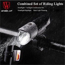 Bicycle Light USB Rechargeable Waterproof 18h Endurance Bike Mountain Accessories Headlight Taillight Combination