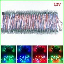 1000pcs DC 5V 12V WS2811 IC RGB LED מודול מחרוזת אור 12mm מלא צבע חיצוני עמיד למים פרסומת LED פיקסל אור