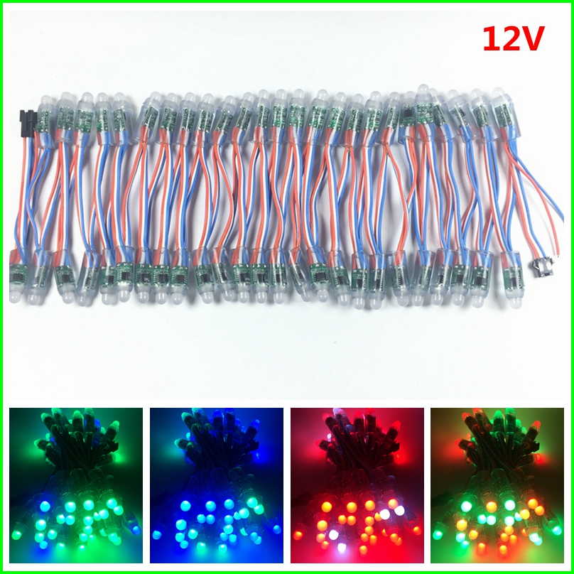 1000pcs DC 5V 12V WS2811 IC RGB LED Module String Light 12mm Full Color IP68 Outdoor Waterproof Advertisement LED Pixel Light