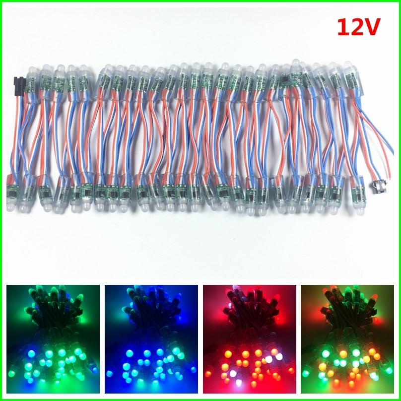 1000pcs DC 5V 12V WS2811 IC RGB LED Module String Light 12mm Full Color IP68 Outdoor Waterproof Advertisement LED Pixel Light