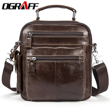 OGRAFF Men's bag leather handbag men genuine leather Shoulder messenger bag crossbody travel bag designer handbags high quality