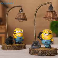 Artpad Despicable Me Minion Night Light Home Decor Fixture Resin Lamp for Baby Kid Childern Room LED Minions