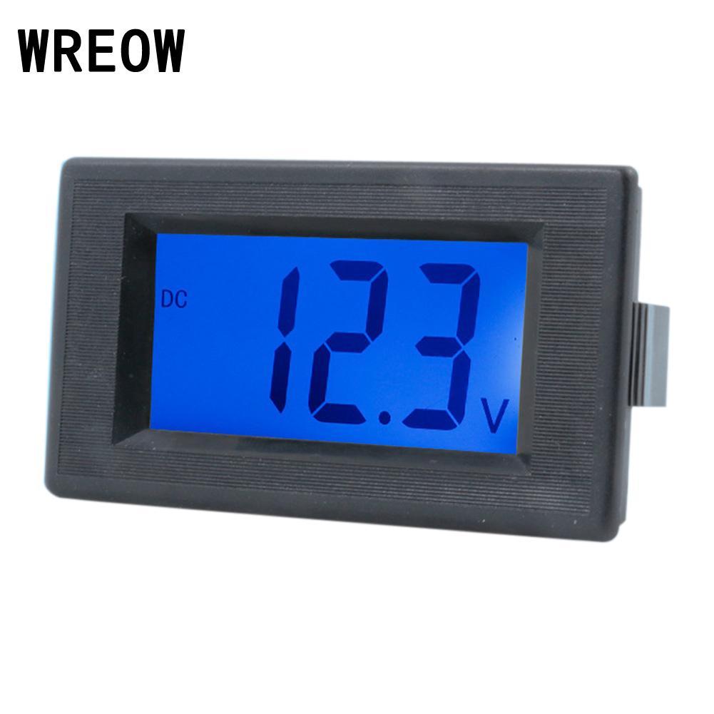 1PCS DC4-30V LED Panel Meter Digital Voltmeter Volt Meter Tester Blue Household LCD Display Two Wires Electrical Voltage Tester