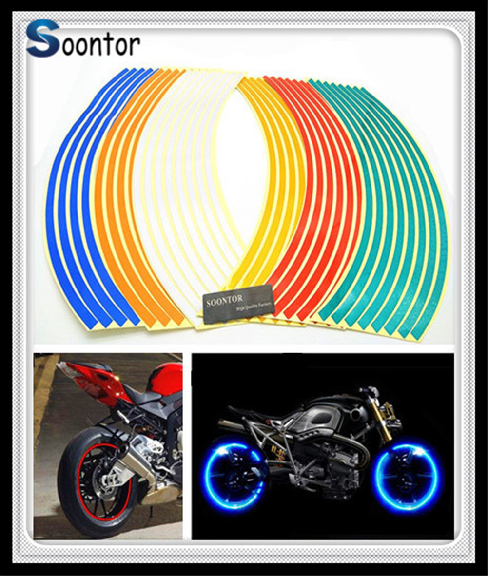 Gloss White Motorcycle Inner Rim Tape Sticker Decal for BMW S1000RR