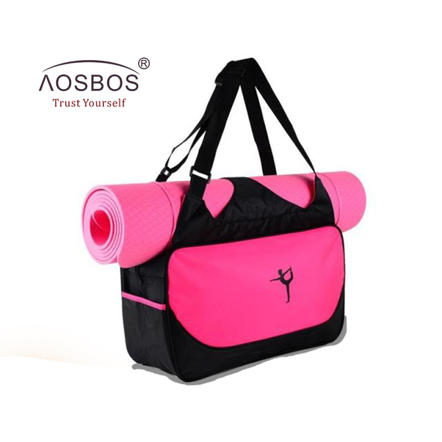 Aosbos Hot Yoga Bag Multifunctional Clothes Gym Women Waterproof Sport Bags Shoulder Mat