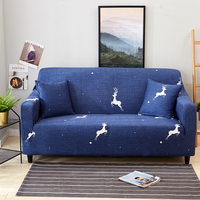 Deer Pattern Slipcover Stretch Four Season Sofa Covers Furniture Protector Loveseat Couch Cover Sofa Towel 1/2/3/4 Seater Soft