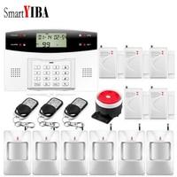 SmartYIBA GSM Security Guard Alarmes Wireless Home Burglar GSM Alarm System Voice Prompt Home Security Alarma