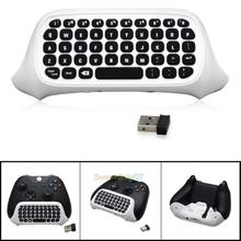 2.4G Mini Wireless Chatpad Message Keyboard White for Xbox One Slim Controller 0323