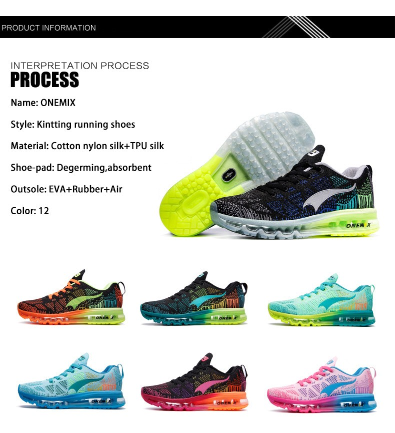 Onemix Autumn Music Rhythm Breathable Knit Vamp Outdoor Mens Running Shoes Women Sport Shoes Running Sneakers Men Sport Shoes 23