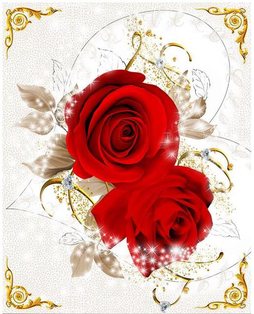 Custom 3d Photo Wallpaper 3d Ceiling Murals Wallpaper Red Roses Love