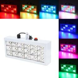 Sterowanie głosem DJ Club Disco KTV Party lampa na barek 18 RGB stroboskop led projektor świetlny efekt oświetlenia scenicznego