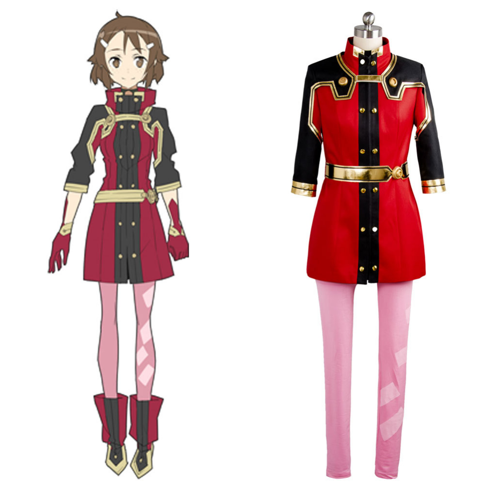 Original SAO Sword Art Online the Movie Ordinal Scale OS Lisbeth Shinozaki Cosplay Costume Real 100 Outfit  Anime For Halloween