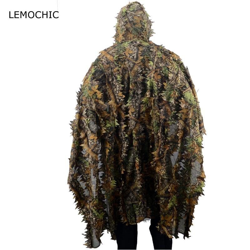 LEMOCHIC blouse chasse airsoft sniper tropic atacs woodland échassier militar combat tactique désert camouflage ghillie costume