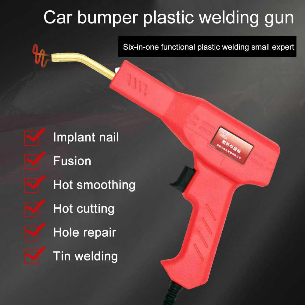 Pistola de soldar para reparación de parachoques de coche de 50 W, máquina soldadora caliente, Kit de máquina soldadora, herramienta de reparación de soldadura, grapadoras calientes, juego de pistola para soldar