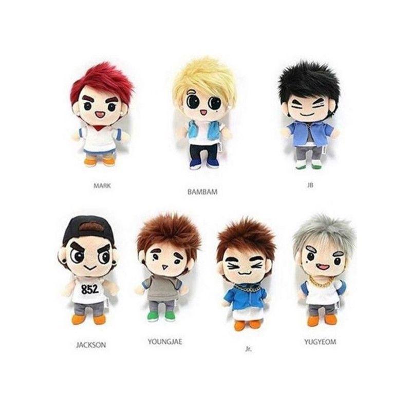 Korea Kawaii Plush Doll Plush Toy Soft Stuffed Doll Fans Collection Present PP Cotton Cartoon Plush Dolls Fans Gift Baby Toys