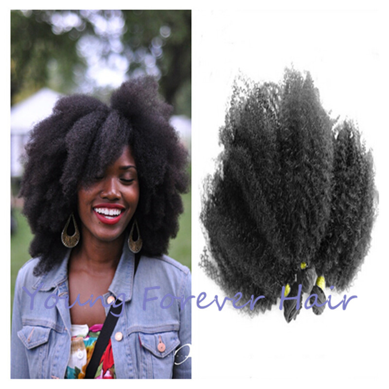 Queen Cheap Natural Afro Hair Extensions Tangle Free No