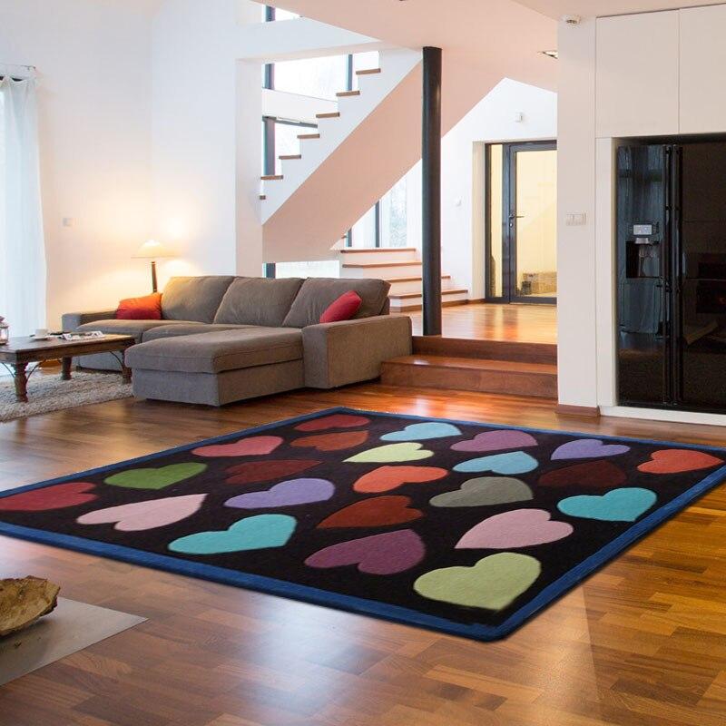 ALITEXTILEBTOC taille personnalisable tapis pour la maison 100% acrylique en forme de coeur mignon tapis rectangulaire sculpté à la main tapis antidérapant