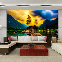 Beibehang 3d Wallpaper European Style Fairyland Lake Trees Health And Environmental Protection Papel De Parede Papel