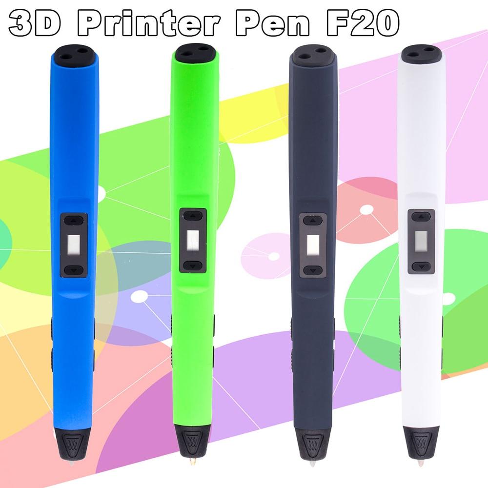 Stylo imprimante 3d abs/pla imprimante 3d stylo pour enfants outil de dessin stylo magique le meilleur cadeau cadeaux de noël