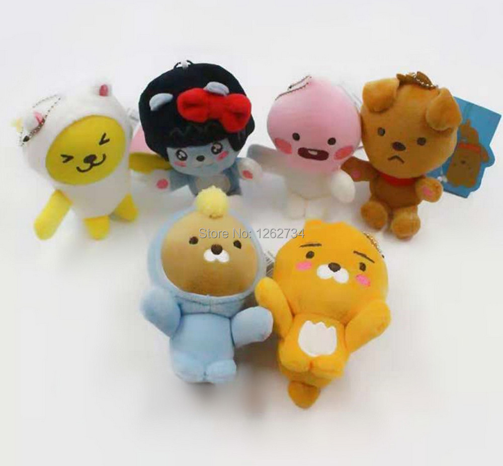 Action & Toy Figures Good 1 Pc Adorable Cocoa Friends Keychain Cartoon Kakao Friends Ryan Muzi Apeach Neo Frodo Keychain Bag Pendants Figures Toys To Be Distributed All Over The World