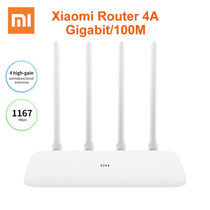 Xiaomi Mi маршрутизатор 4А гигабитная версия 2,4 ГГц 5 ГГц WiFi 1167 Мбит/с WiFi повторитель 128 Мб DDR3 с высоким коэффициентом усиления 4 антенны Сетевой уд...
