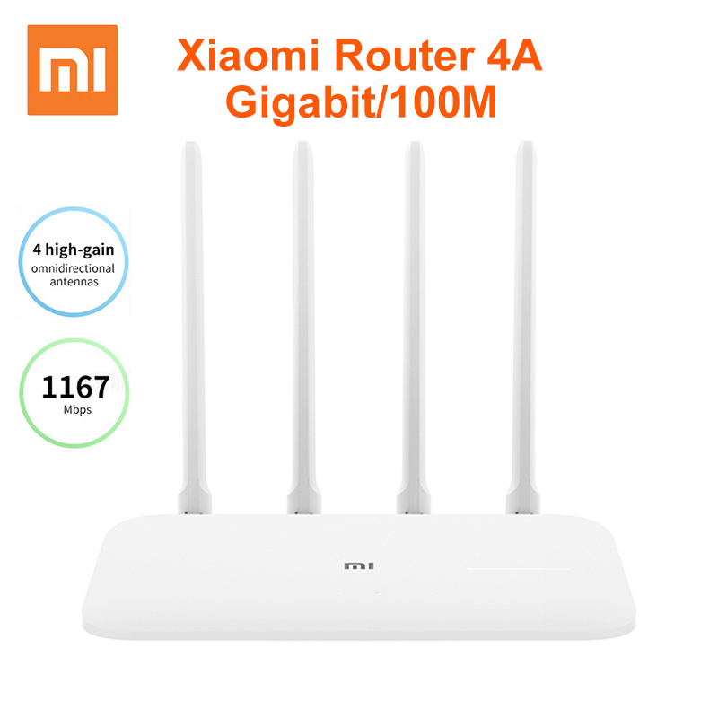 Xiaomi Mi Router 4A Gigabit Version 2 4GHz 5GHz WiFi 1167Mbps WiFi Repeater 128MB DDR3 High Gain 4 Antennas Network Extender
