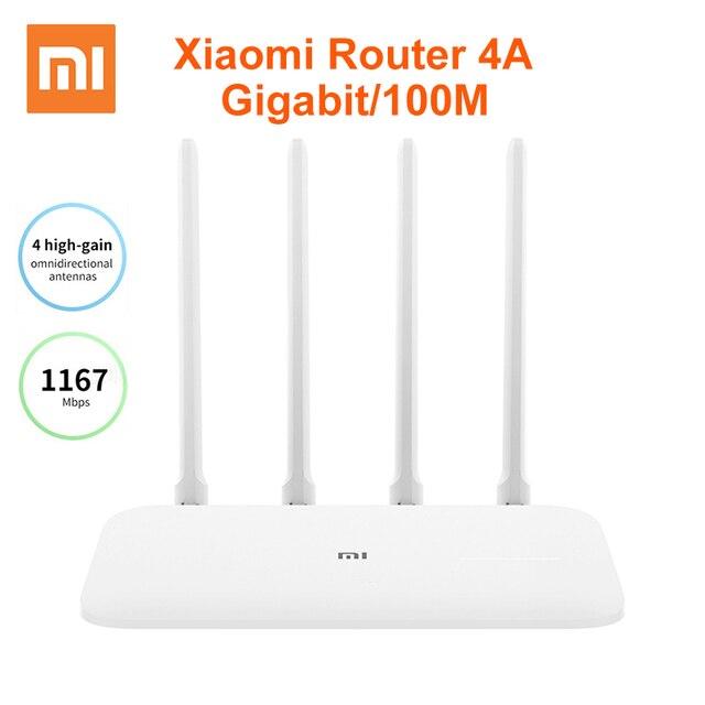 שיאו mi mi נתב 4A Gigabit גרסת 2.4GHz 5GHz WiFi 1167Mbps WiFi מהדר 128MB DDR3 גבוהה רווח 4 אנטנות רשת Extender