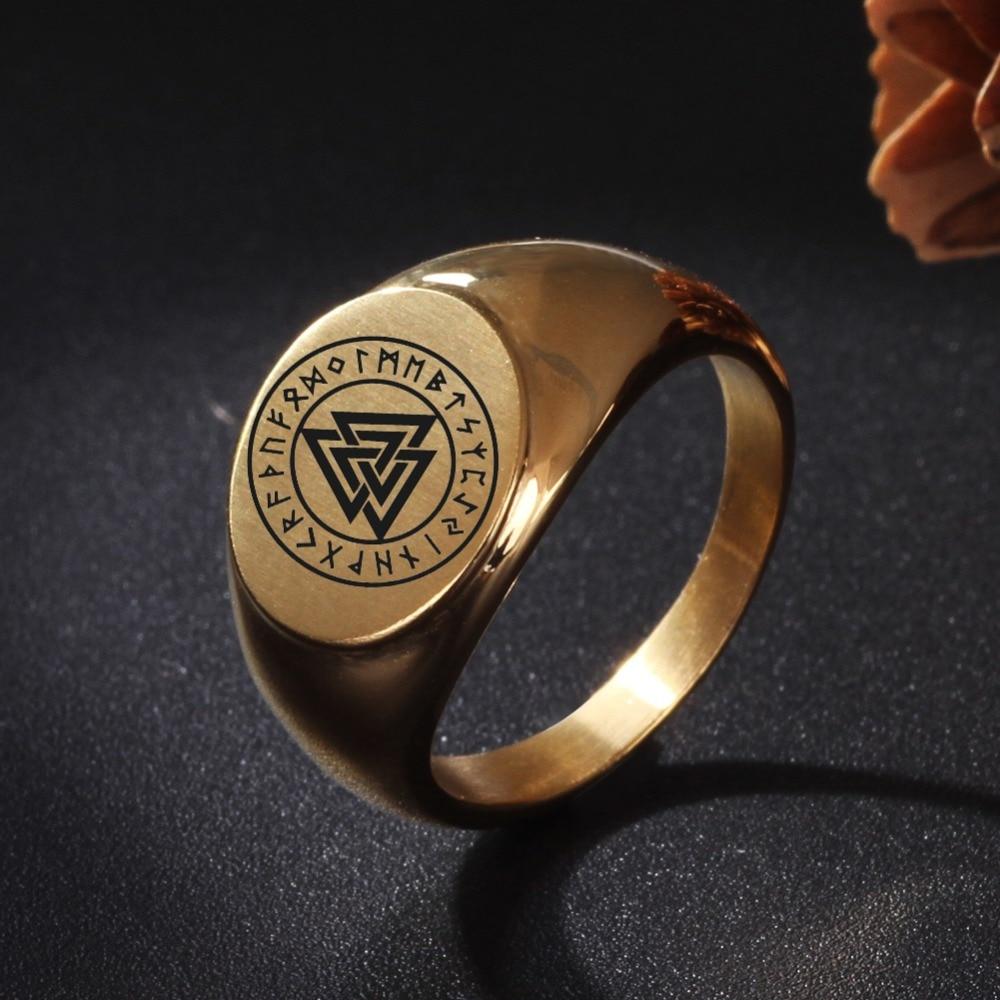 Soul для мужчин настроить норвежский викинг кольца Triskele Викинг Исландия руник языческий титан сталь кольцо подарок украшения для женщин