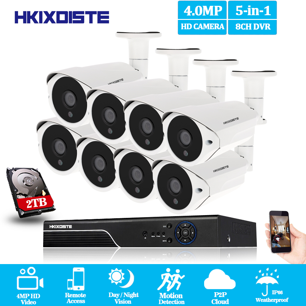8 Channel CCTV system AHD 4MP DVR with 8PCS Super HD 4MP Security camera System 4MP 36 LEDs camera video surveillance kit8 Channel CCTV system AHD 4MP DVR with 8PCS Super HD 4MP Security camera System 4MP 36 LEDs camera video surveillance kit