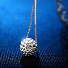 Хрустальное ожерелье роскошное серебряное покрытие стразы блестящее