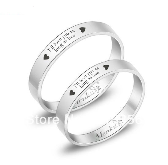 usa wholesales cheap price 34mm stailess steel his her - His And Hers Wedding Rings Cheap