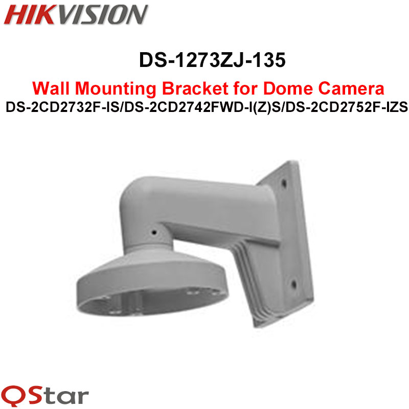 Hikvision Wall Mount bracket DS-1273ZJ-135 Dome Camera DS-2CD2732F-IS DS-2CD2742FWD-I(Z)S DS-2CD2752F-I(Z)S DS-2CD27X2-I(Z)S cctv bracket ds 1212zj indoor outdoor wall mount bracket suit for bullet camera s bracket ip camera bracket