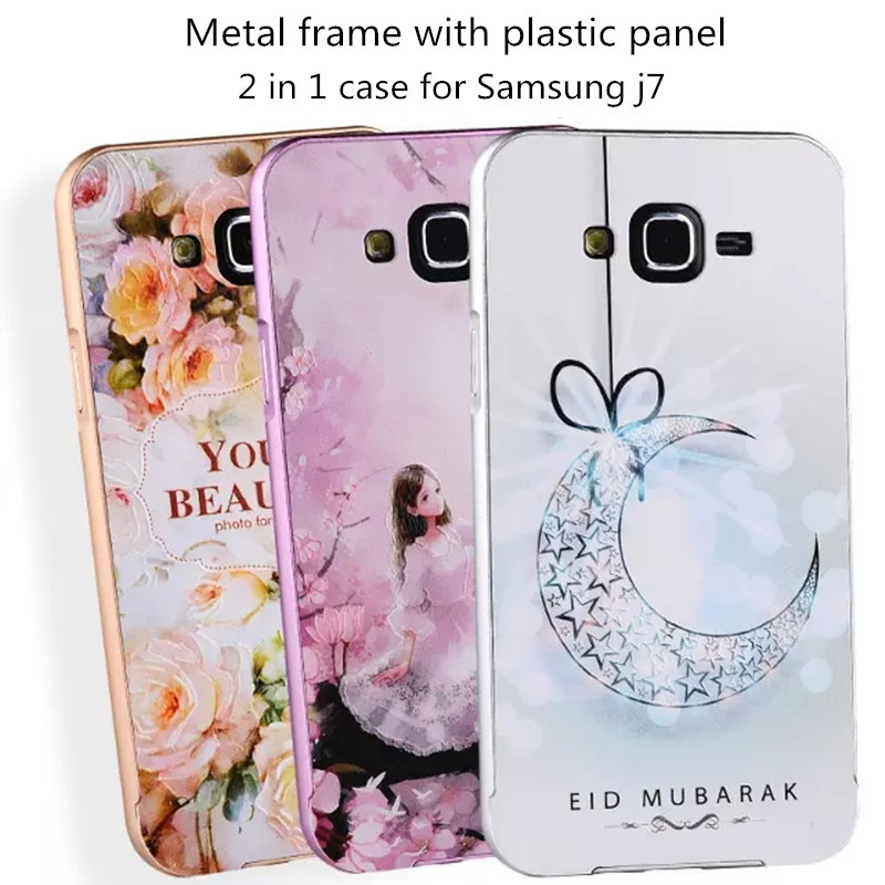 best sneakers dbeb4 54684 US $8.9 |18 design high quality aluminum phone case for samsung galaxy j7  j700 j700h back cove 3d embossed plastic panel 2 in 1 case hard on ...