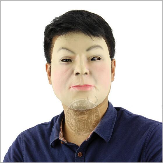 Top Grade Realistic Man Mask Party Cosplay Costume Fancy Dress Deluxe Latex Breaking Bad Man Mask Full Face Skin Mask Adults toy