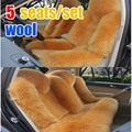 5 seats/set long sheep fur car seat cover cushion new arrival fashion and warm real wool car seat cover cushion