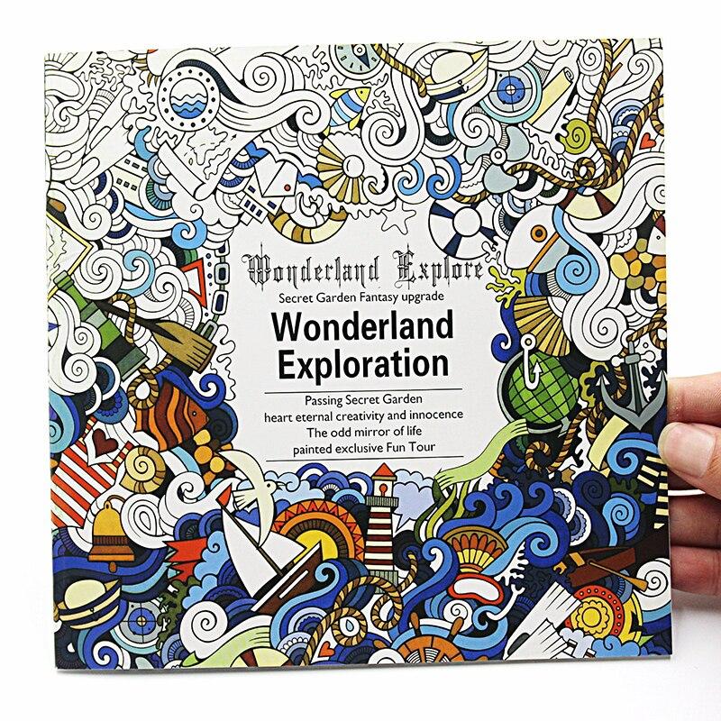 ᗐ1 unids Nueva 24 páginas versión inglés Wonderland exploración ...