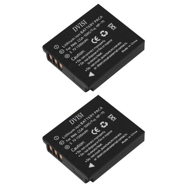 2 יח\חבילה 1.5Ah CGA S005 S005 BCC12 CGA S005E DMW BCC12 סוללה עבור Panasonic Lumix DMC FX180 DMC LX1 DMC LX2 LX3 FS1 FS2 FX01