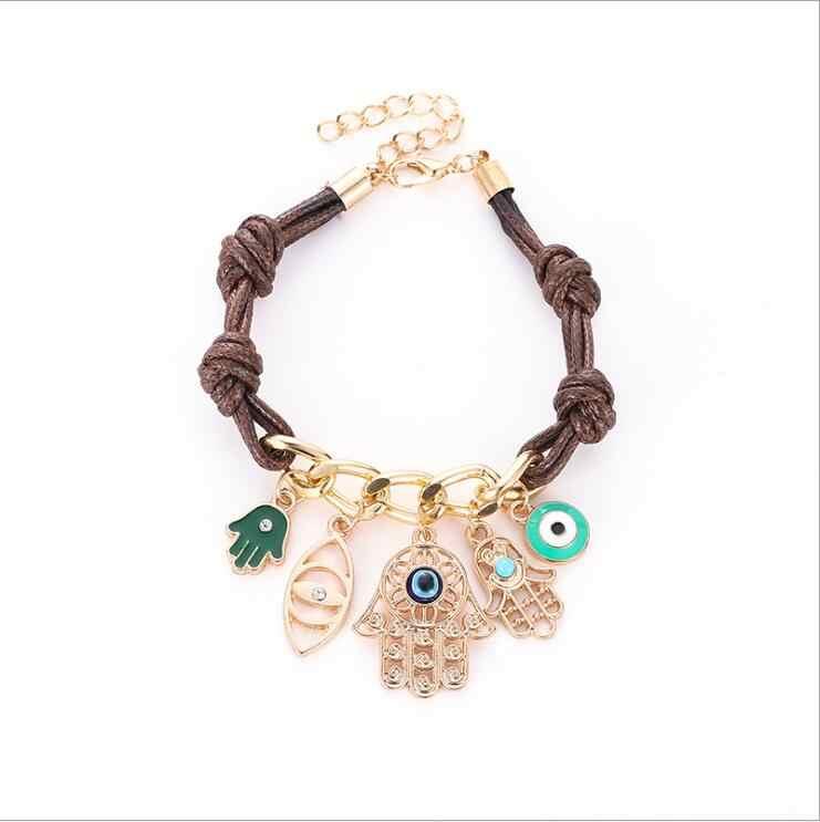 הגעה חדשה קסם צמיד דקל עיניים Multielement צמיד Brincos Bijoux תכשיטי מתנה B3016
