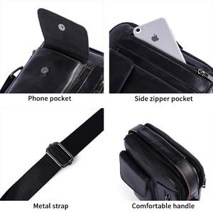 Image 4 - WESTAL erkek omuzdan askili çanta erkekler için hakiki deri çanta casual crossbody çanta üst kolu çanta küçük postacı çantası erkek 8211