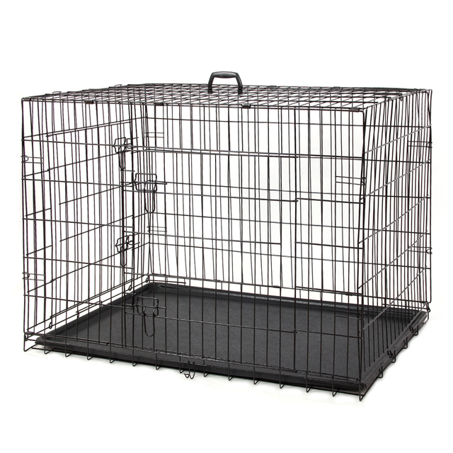 Domestic Delivery Wire Foldable Pet Crate Dog Cat Iron Cage Suitcase Exercise Playpen Pet Cage Universal Cage for Pet 5 Sizes