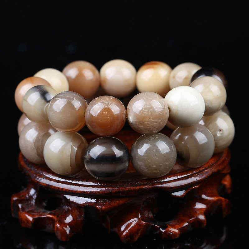 Bracelet Beaded Yak Horn 25mm Round Plain Natural 30mm 12mm Tibet for Man Healthy 14mm