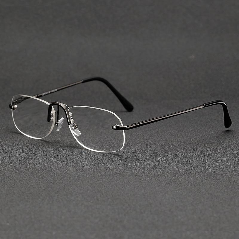 + 1 + 1.5 + 2 Tot + 4 Kwaliteit Leesbril Mannen Vrouwen Draagbare Randloze Ultra Licht Business Presbyopie Frameloze Frame Unisex Wees Onthouden In Geldzaken