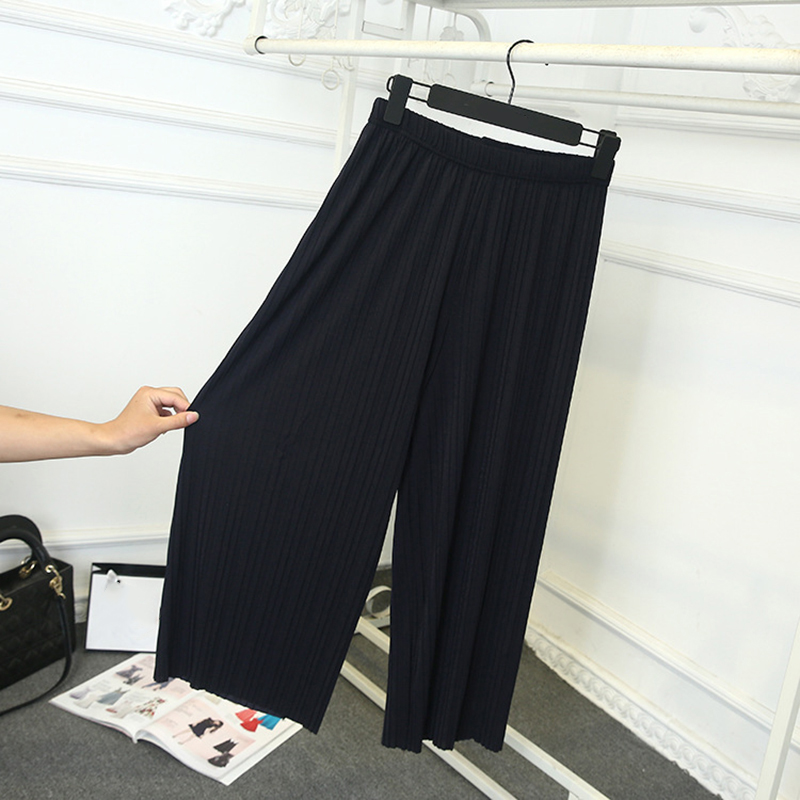 Fashion Summer Women pants 2018 Casual Loose Oversize Long Wide leg Chiffon Pants